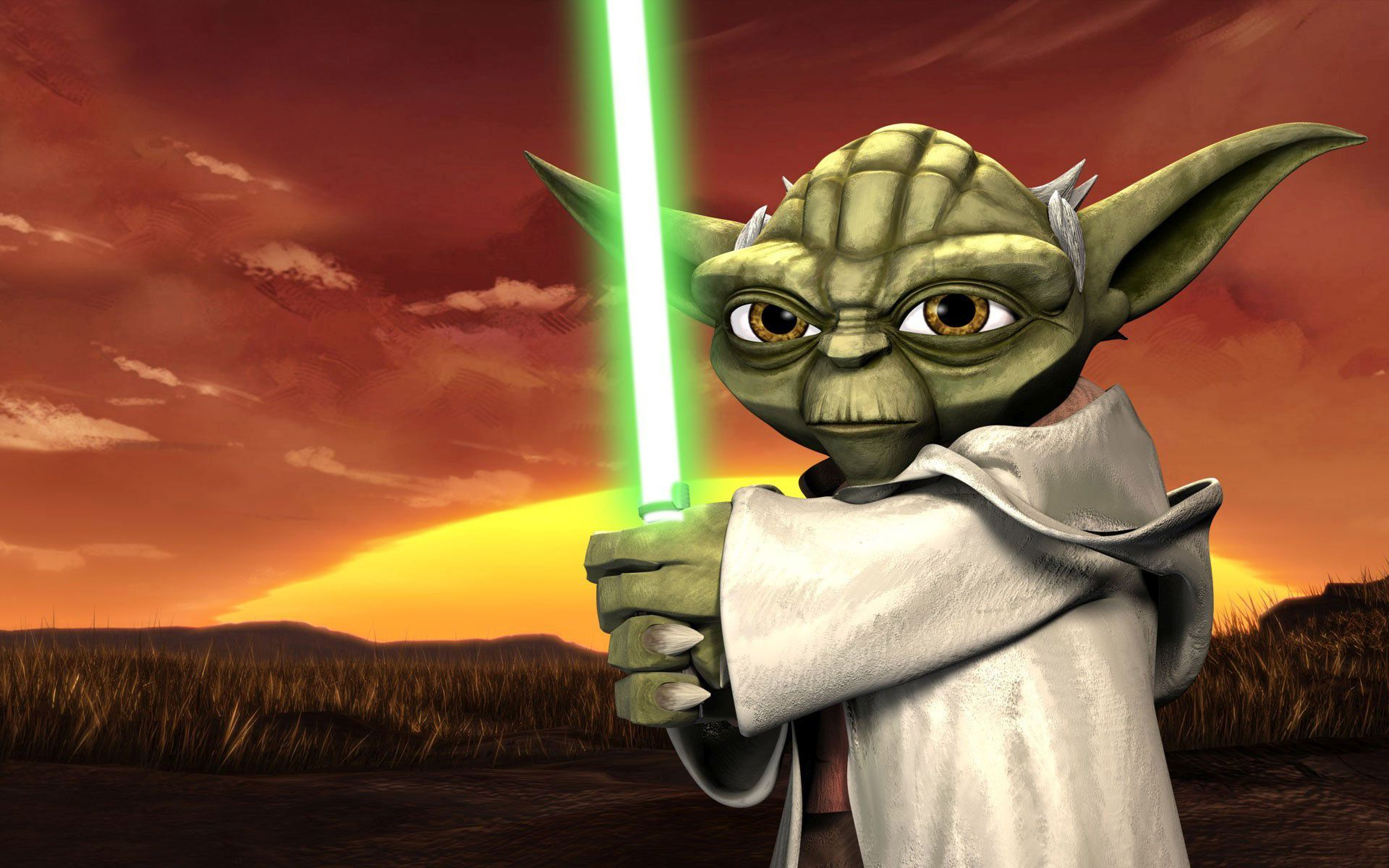 23418-yoda-with-a-lightsaber-star-wars-the-clone-wars-game-desktop-wallpaper-1920x1200